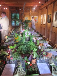 Art of Dining dinner with Aurora Provisions turned the table into the farm at the Kennebunkport Festival Art of Dining dinner in Brad Maushart's f-8 gallery. Hilary Nangle photo