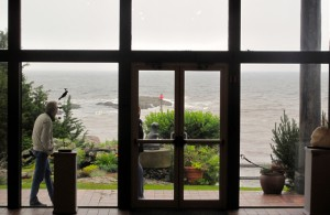 View from inside the Ogunquit Museum of Art. Hilary Nangle photo