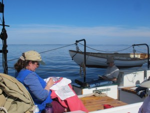 Slow down and enjoy life aboard the Riggin. Hilary Nangle photo