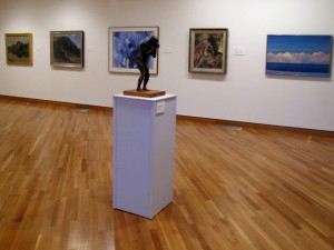 Works from the permanent collection on display in the Ogunquit Museum of Art. Hilary Nangle photo.