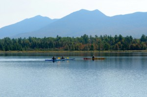 Kayakers paddling by the Bigelows. Tom Nangle pic. DSC_4472
