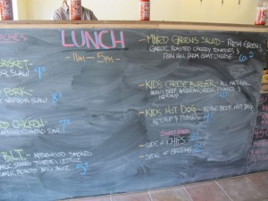 Lunch menu, Standard Gastropub Bridgton. Hilary Nangle photo
