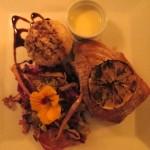 Seared tuna with wasabi cream. Hilary Nangle photoIMG_8222