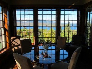 View from the lounge. Blair Hill Inn. Hilary Nangle photoIMG_8270