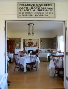 Dining room, Blair HIll Inn, Greenville, Maine. Hilary Nangle photoIMG_8277