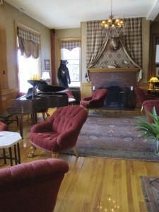 Rangeley Inn lobby, Rangeley, Maine. Hilary Nangle photo