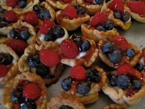 bite-size fruit tarts from a previous Pies on Parade event in Rockland, Maine. Hilary Nangle photo. IMG_2427