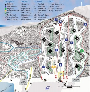 Camden SNow Bowl trail map