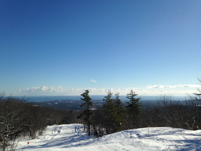 View over Penobscot Bay from Camden SNow Bowl. Hilary Nangle photo