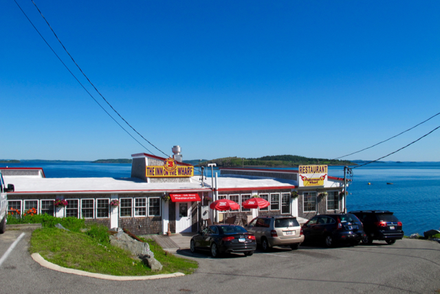 Lubec's last sardine-processing plant found new life as The Inn at the Wharf. The Inn on the Wharf, in Lubec, is sited in a former sardine processing plant. ©Hilary Nangle