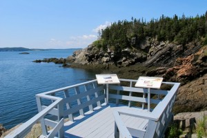 An observation point in Roosevelt-Campobello International Park. Hilary Nangle photo.IMG_3431