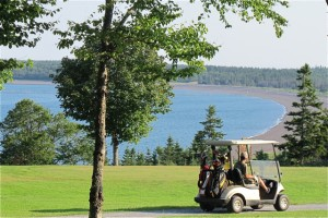 In Herring Cove Provincial Park, on Campobello Island, the nine-hole golf course has expansive views. Hilary Nangle photo. IMG_3653
