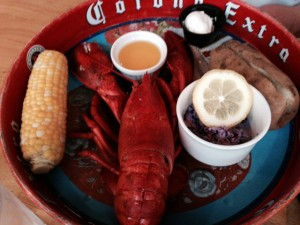 Enjoy lobster inside or out at the restaurant at The Inn on the Wharf. ©Hilary Nangle