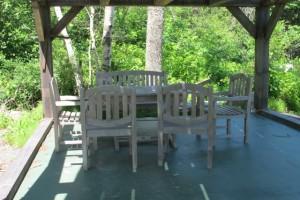 Picnic shelter at Seal Cove FArm. Hilary Nangle photo. IMG_3740