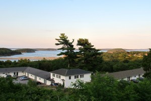 View from our room at The Wonder View in Bar Harbor. Hilary Nangle photo. IMG_4079