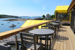 The view from the new indoor/outdoor bar/lounge at Thurston's Lobster Pound in Bernard. Hilary Nangle photo. IMG_2999