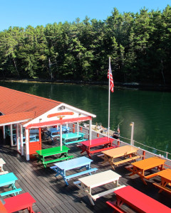A rainbow of colors welcomes diners to the Chauncey Creek Lobster Shack in Kittery. ©Hilary Nangle
