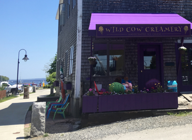 Find Wild Cow Creamery on the waterfront walkway, just off Main Street, in downtown Belfast. ©Hilary Nangle