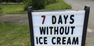 Never miss an opportunity for Maine-made ice cream. ©hilary nangle