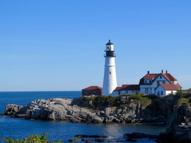 One Maine lighthouse with a museum is Portland Head Light. ©Hilary Nangle