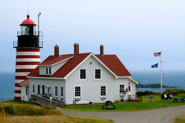 One Maine lighthouse that opens its tower for tours is West Quddy Head in Lubec. ©Hilary Nangle