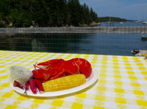 You'll need to take a ferry or excursion boat to Frenchville, to enjoy Lunt's Lobster. ©Hilary Nangle