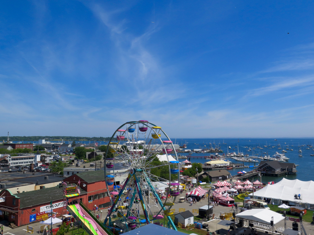 Rockland, Maine, is home to the annual Maine Lobster Festival. ©Hilary Nangle