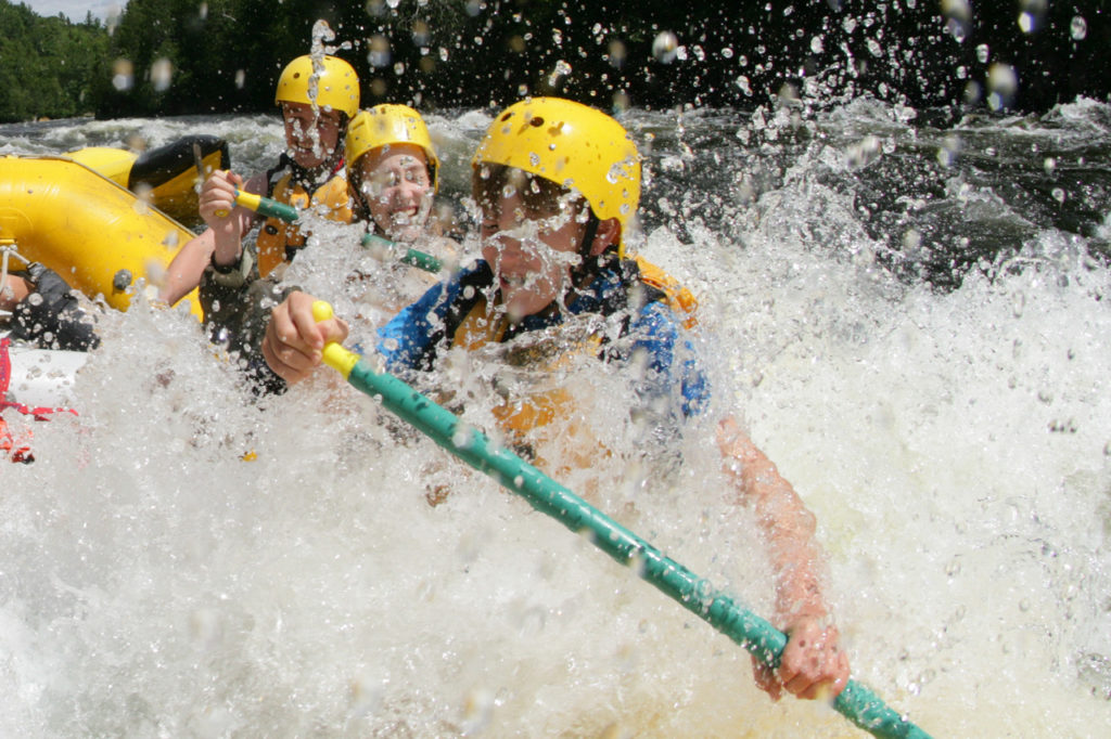 Maine summer adventures include whitewater rafting on the Kennebec, Penobscot, and Dead Rivers.