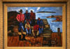 Lobster Fishermen, painted in Corea, Maine, by Marsden Hartley