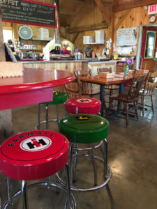 Pizza, soups, salads, sandwiches, and specials fill the menu at Stutzman's, in Sangerville. ©Hilary Nangle