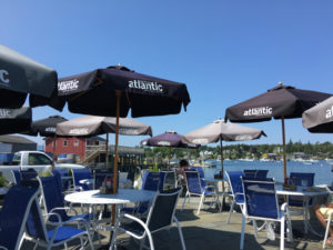 The Seafood Ketch in Bass Harbor, Maine, is a great spot for lunch or dinner with a view. ©Hilary Nangle