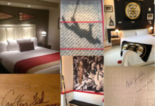 Sweet dreams for Red Sox and Bruins Fans in themed suites at two Boston hotels. ©Hilary nangle