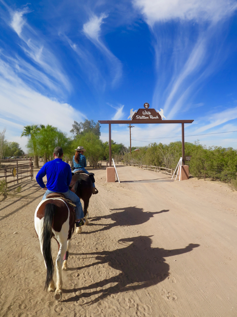 After the ride, return to relax at the White Stallion dude ranch. ©Hilary Nangle