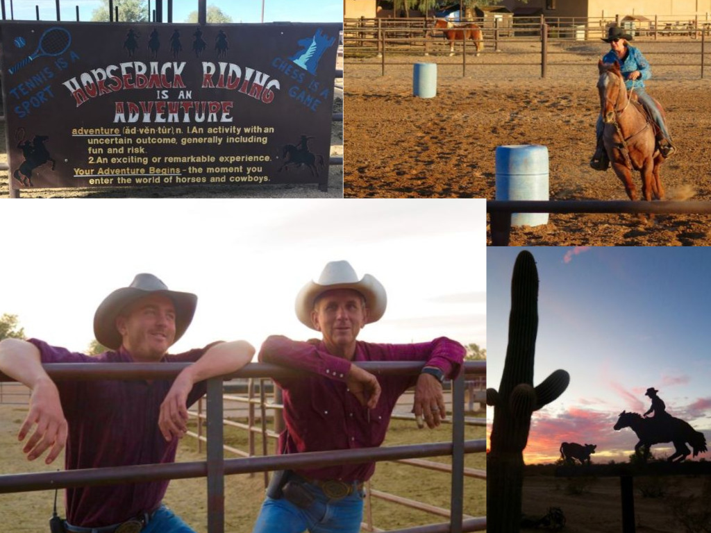 One don't miss weekly event at the White Stallion dude ranch is the rodeo. ©Hilary Nangle