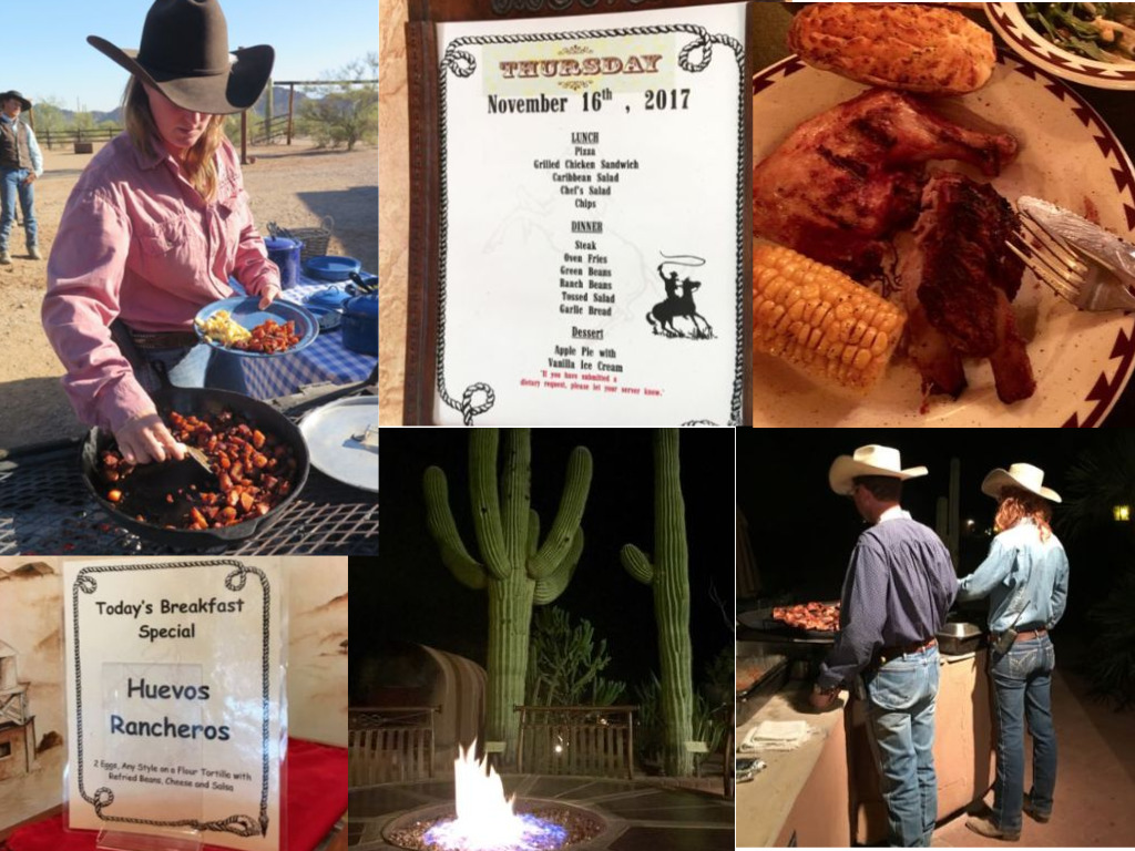 It's all-you-can-eat at the White Stallion dude ranch. ©Hilary Nangle