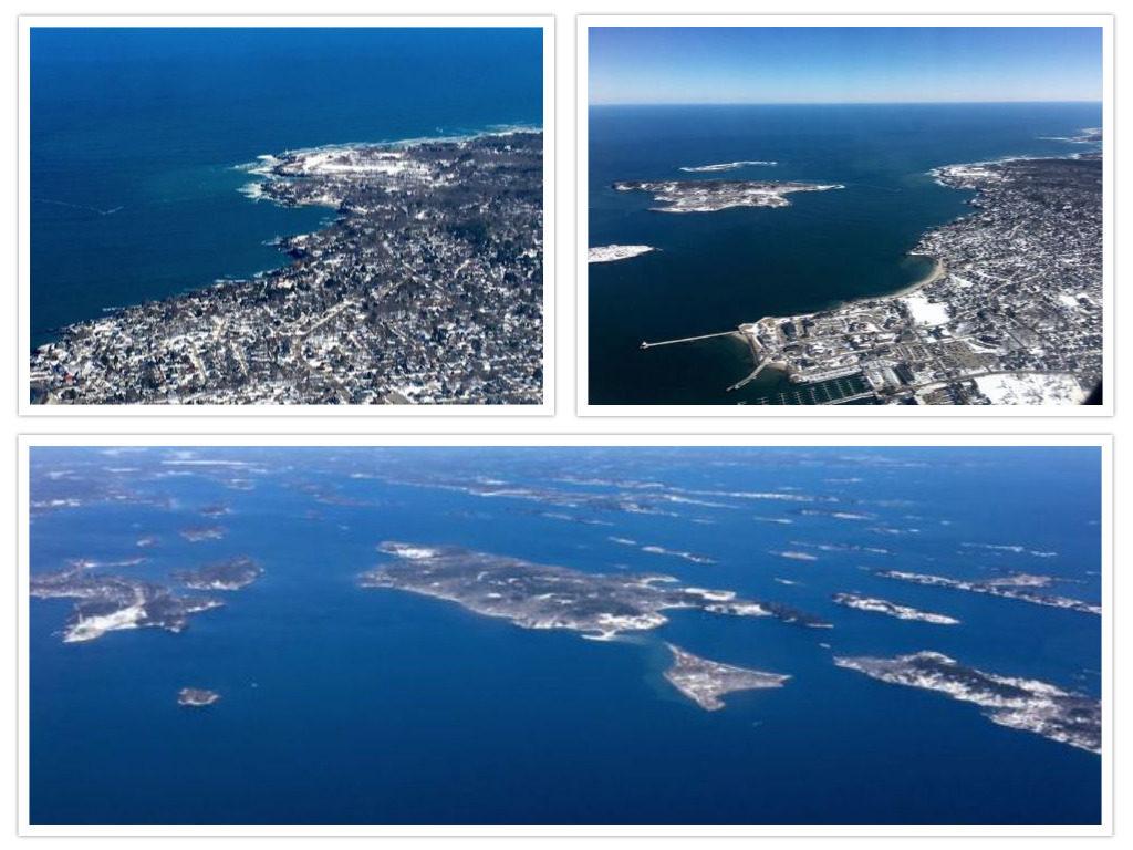 On a clear day, snag a window seat for landing at Portland International Jetport. ©Hilary Nangle