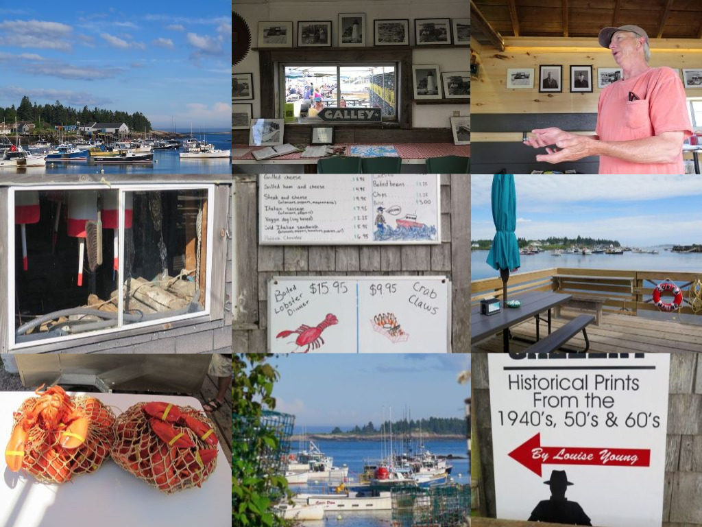 The Corea Wharf & Gallery is a triple win: Great lobster, great art, and great storytelling by owner Joe Young. @Hilary Nangle photos
