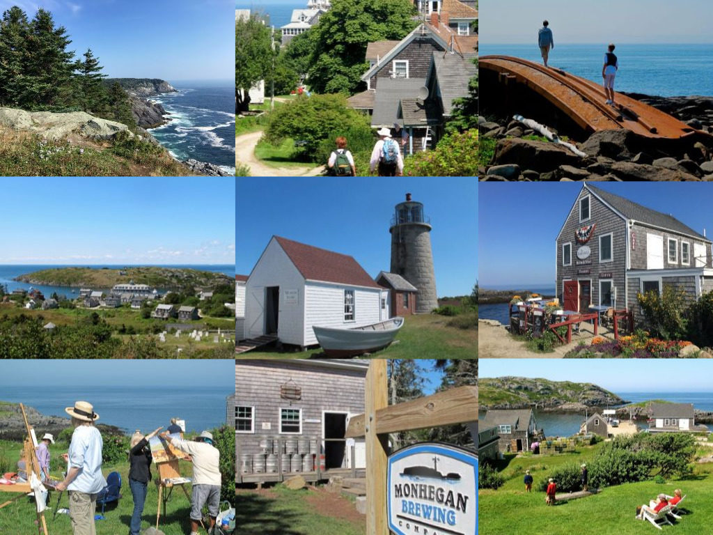 Passenger ferries to Monhegan Island depart from Boothbay Harbor, New Harbor, and Port Clyde daily in season. ©Hilary Nangle