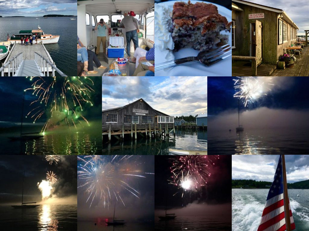 A highlight of my 2017 was watching the fireworks in Southwest Harbor, on Mount Desert Island, from a boat. ©Hilary Nangle