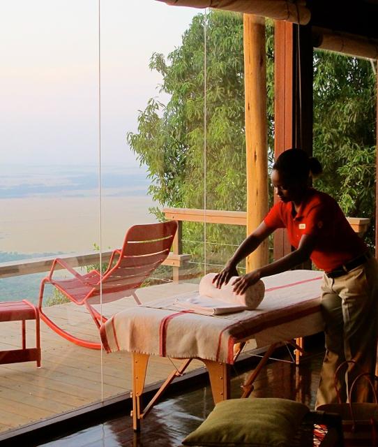 Indulge in an in-suite massage at Kenya's Angama Mara safari lodge. ©Hilary Nangle