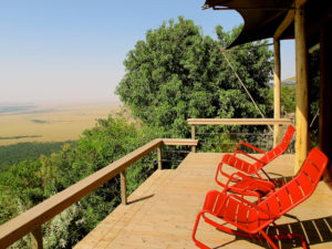 I loved watching sunset from my deck at Angama Mara. ©Hilary Nangle