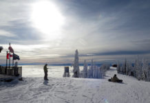 Above the clouds at Whitefish Mountain, Montana.©Hilary Nangle