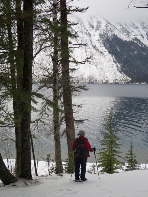 Ski or snowshoe in Glacier National Park, an easy drive from Whitefish, Montana. ©Hilary Nangle