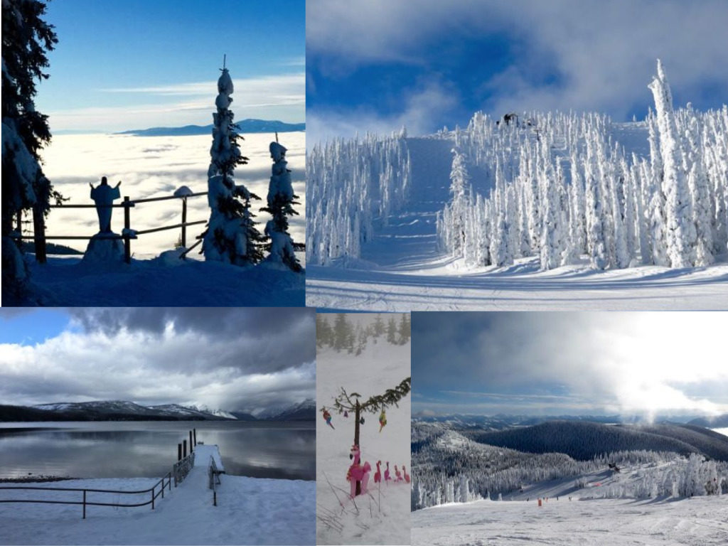 In winter, you can spend a few days skiing at Whitefish Mountain and another day exploring Glacier National Park. ©Hilary Nangle