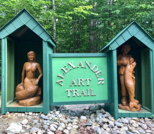 Spend an hour at the Alexander Art Trail, a sculpture trail just inland of down east Maine. ©Hilary Nangle